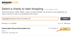 Select HSA as Amazon Smile charity