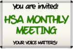 HSA Monthly Meeting